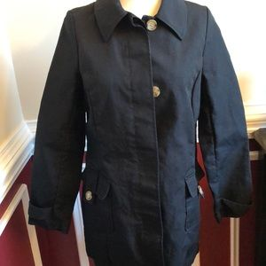Old Navy black trench style coat size small